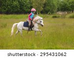 Young Girl Confident Galloping...