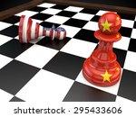 Stock photo usa china chess geopolitics global politics war currency d 295433606