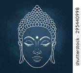 head of buddha. vector... | Shutterstock .eps vector #295440998