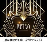 art deco geometric pattern ... | Shutterstock .eps vector #295441778