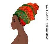 portrait of beautiful african...   Shutterstock .eps vector #295441796