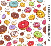 Colorful Donuts With Sprinkles...