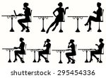 vector silhouette of woman... | Shutterstock .eps vector #295454336