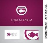 fish  aquarium logo template... | Shutterstock . vector #295455056