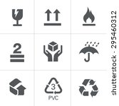 packaging symbols | Shutterstock .eps vector #295460312