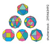 collection of 6 complex... | Shutterstock .eps vector #295463492