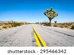 paved road at joshua tree...