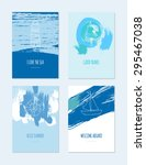 Set Of Marine Cards With...