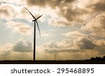 windmills standing on corn... | Shutterstock . vector #295468895