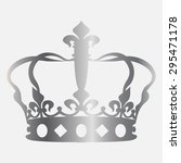 silver crown icon  | Shutterstock .eps vector #295471178