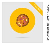 icon of pizza with cut slice | Shutterstock .eps vector #295476692