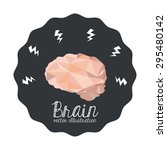 brain digital design  vector...   Shutterstock .eps vector #295480142