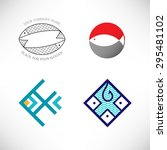 set of creative vector icon in... | Shutterstock .eps vector #295481102