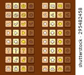 wooden game icons buttons icons ...