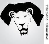 illustration of a lion   Shutterstock .eps vector #295484018