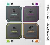 modern infographic design.... | Shutterstock .eps vector #295487462