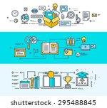 thin line flat design concept... | Shutterstock .eps vector #295488845
