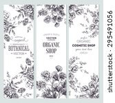 floral banner collection.... | Shutterstock .eps vector #295491056
