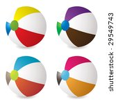 collection of beach balls with... | Shutterstock .eps vector #29549743