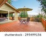 large furnished deck with a... | Shutterstock . vector #295499156