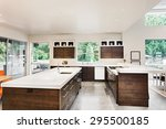 kitchen with island  sink ... | Shutterstock . vector #295500185