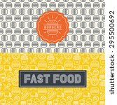 vector fast food package design ... | Shutterstock .eps vector #295500692