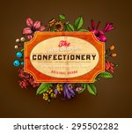 vintage vector card with...   Shutterstock .eps vector #295502282