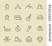 camping icon set | Shutterstock .eps vector #295515518