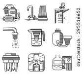 flat line vector icons of water ...   Shutterstock .eps vector #295516652