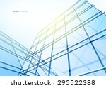 abstract building from the... | Shutterstock .eps vector #295522388