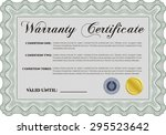sample warranty certificate... | Shutterstock .eps vector #295523642