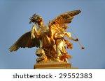 A Golden Mythological Statue O...