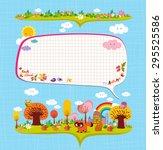 hello autumn. design elements... | Shutterstock .eps vector #295525586