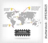 vector world map design | Shutterstock .eps vector #295528025