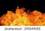 blaze fire flame texture... | Shutterstock . vector #295549355