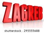 3d zagreb text on white... | Shutterstock . vector #295555688