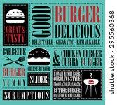 vintage burger menu  | Shutterstock .eps vector #295560368
