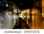 escape of the death scary...   Shutterstock . vector #295571576