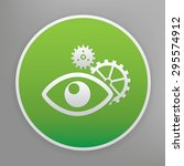 eye design icon on green button ...
