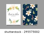 watercolor greeting card...   Shutterstock .eps vector #295575002