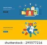 flat design modern vector... | Shutterstock .eps vector #295577216