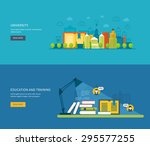 flat design modern vector... | Shutterstock .eps vector #295577255