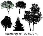 vector trees   Shutterstock .eps vector #29557771