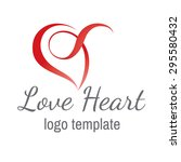 heart love vector logo design... | Shutterstock .eps vector #295580432