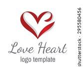 heart love vector logo design... | Shutterstock .eps vector #295580456