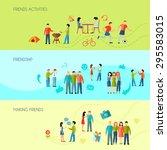 friendship horizontal banners...   Shutterstock .eps vector #295583015