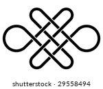 vector endless celtic knot | Shutterstock .eps vector #29558494