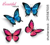 beautiful realistic butterfly... | Shutterstock .eps vector #295587035