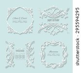 vintage paper cut frames. | Shutterstock .eps vector #295594295