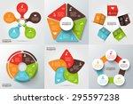 vector arrows  pentagon ... | Shutterstock .eps vector #295597238